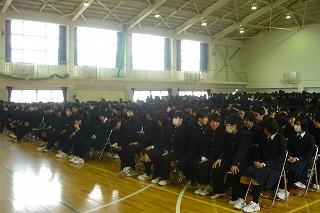 卒業式予行